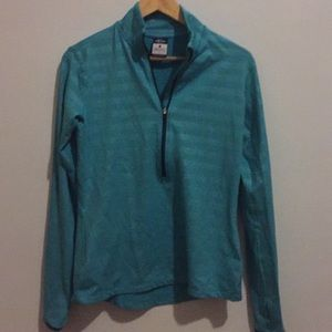 Women's L Nike Quarter ZIP Aqua